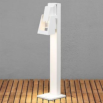 Konstsmide Potenza White Oil Lantern Style Garden Post Light