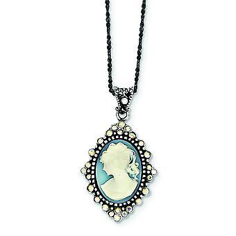 925 שרשרת תליון כחול קריסטל מכסף שרשראות 16 טבעת באביב בגודל תכשיטים מתנות לנשים
