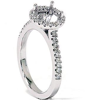 1 / 3ct Pavé Diamond Engagement Semi Mount Ring 14K Weissgold