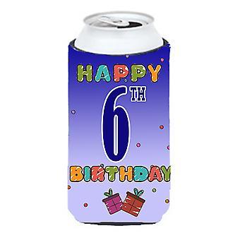 Glad 6: e födelsedag lång pojke dryck isolator Hugger