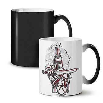 Knight Spartan Fantasy NEW Black Colour Changing Tea Coffee Ceramic Mug 11 oz | Wellcoda