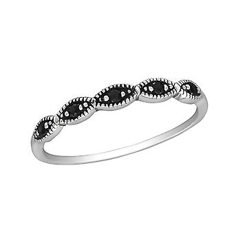 Stackable - 925 Sterling Silver Jewelled Rings - W30149x