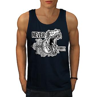 Never Forget Beast Men NavyTank Top | Wellcoda