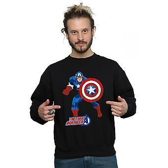 Marvel Men's Captain America The First Avenger Sweatshirt