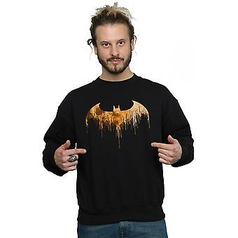 DC Comics Men's Batman Arkham Knight Halloween Moon Logo Fill Sweatshirt