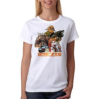 T-shirt blanc le cinquième élément groupe féminin