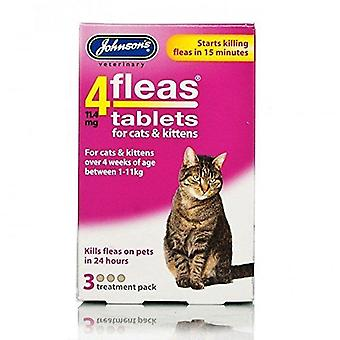 Johnsons 4 Tablets for Cats & Kittens, 3 Tablets