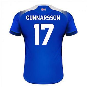 2018-2019 Islanti koti Errea jalkapallopaita (Gunnarsson 17)