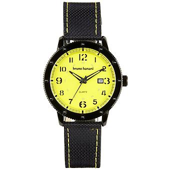 Relógio de pulso relógio de Bruno Banani da GEROS couro analógico BR30033