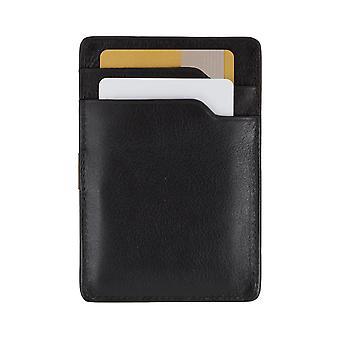 PICARD EuroJet men credit card case card holder leather case Black 6728