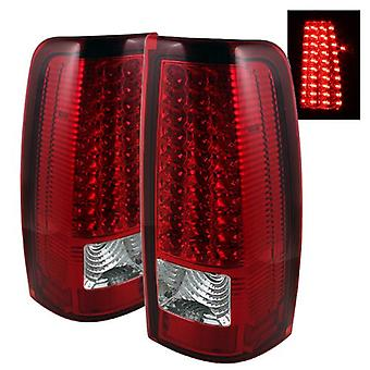 Spyder Auto ALT-ON-CS99-LED-RC Chevy Silverado 1500/2500/3500 and GMC Sierra 1500/2500/3500 Red/Clear LED Tail Light