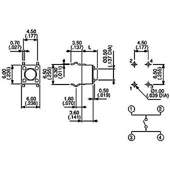 APEM PHAP3301D tryckknapp 12 V DC 0,05 A 1 x av/(på) momentan 1 st (s)
