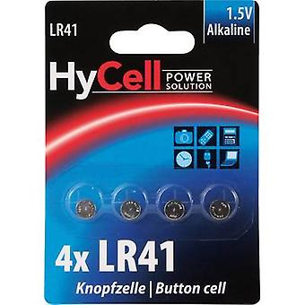 HyCell AG3 Button cell LR41 Alkali-manganese 30 mAh 1.5 V 4 pc(s)