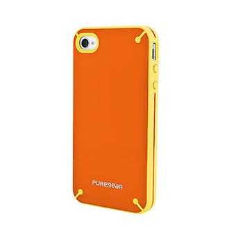Caso de Shell Slim Puregear para Apple iPhone 4/4S - mandarina