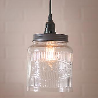 Irvin's Country Tinware Large Ribbed Jar Pendant