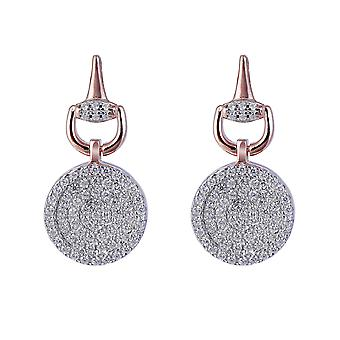 Orphelia sølv 925 ørering Rose runde med zirkonium - ZO-7420