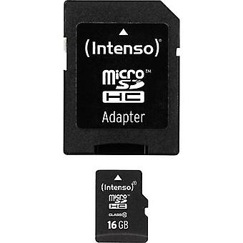 Intenso High Performance microSDHC card 16 GB klasse 10 incl. SD-adapter