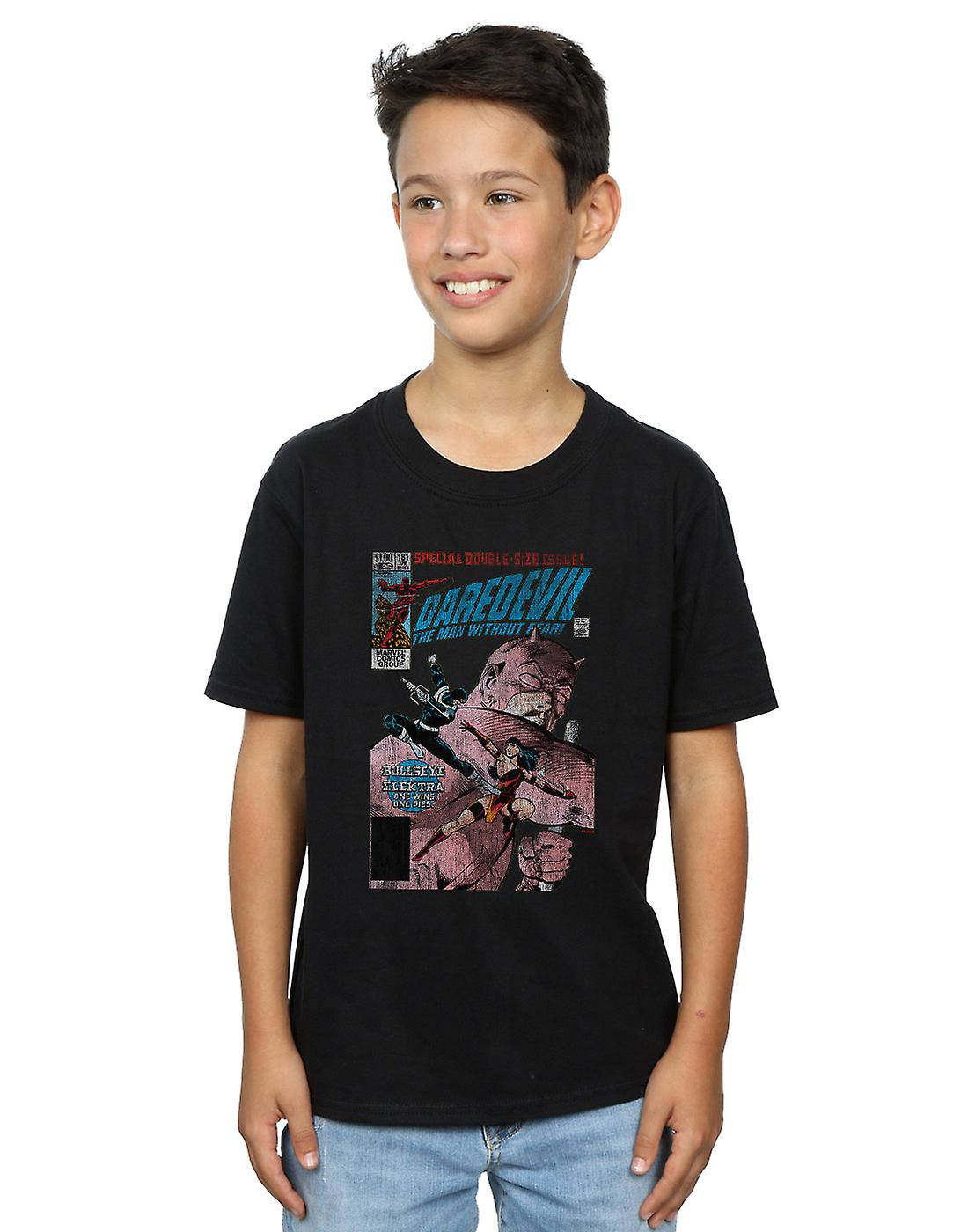 Marvel Boys Daredevil Distressed Bullseye Vs Elektra Cover T-Shirt