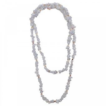 Bcharmd Zara Bluelace Agate Long Necklace