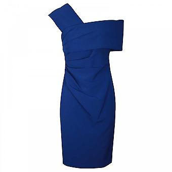 Veromia Occasions Sculpted Off The Shoulder Blue Dress