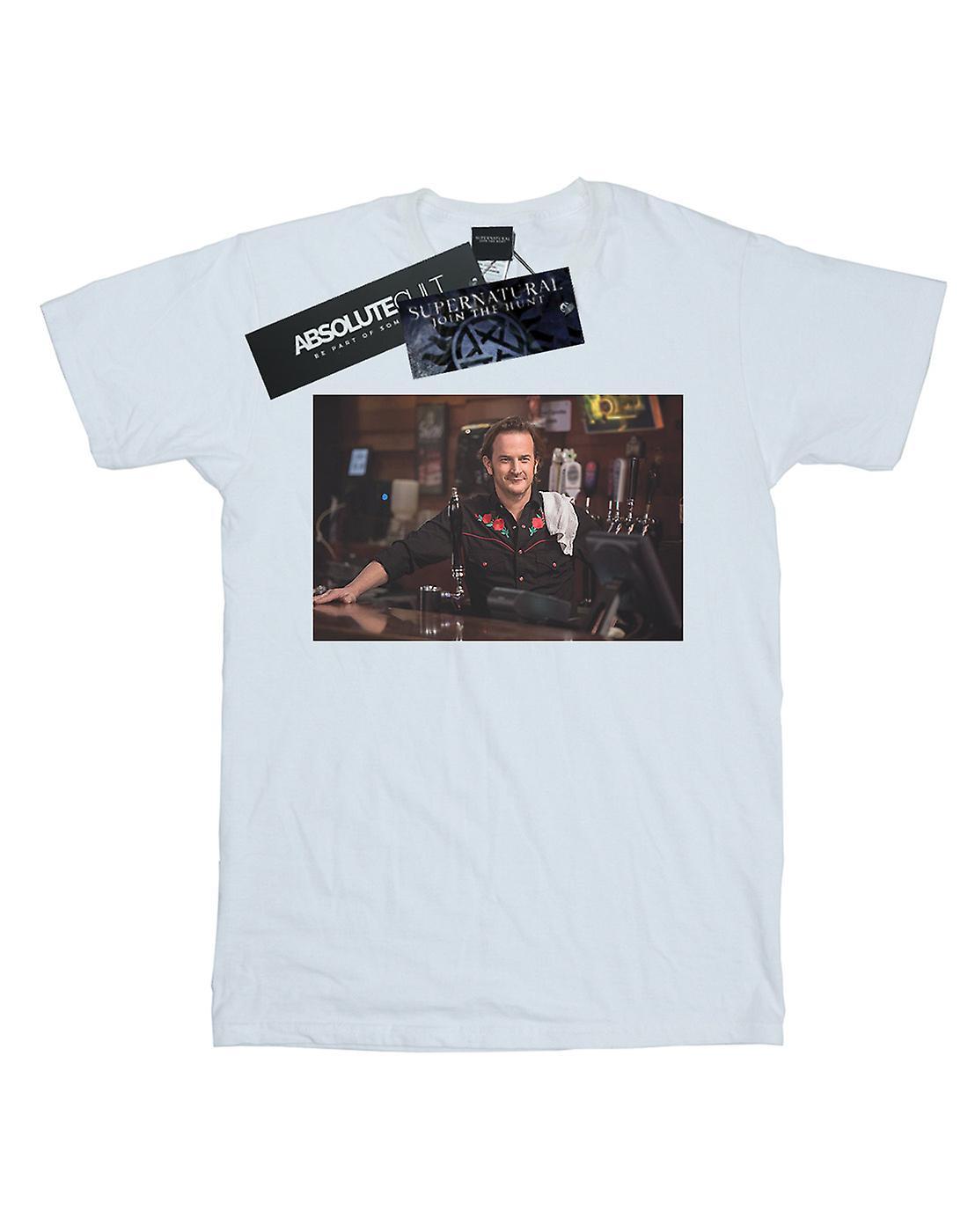 Supernatural Women's Gabriel's Bar Boyfriend Fit T-Shirt
