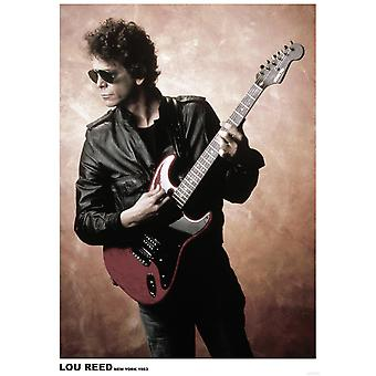 Lou Reed poster New York 1983