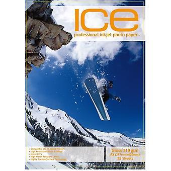 光沢度の高いアイス A3 210gsm x 25/光沢フォト紙
