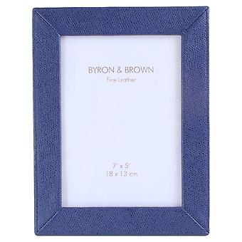 Byron and Brown Slim Classic Photo Frame 5x7 - Florence Blue