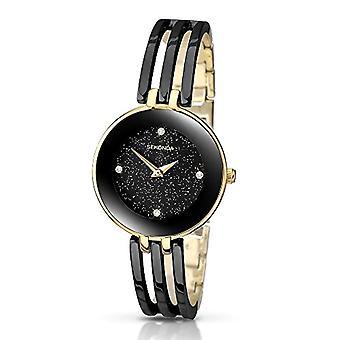 Sekonda wristwatch, female, black/gold