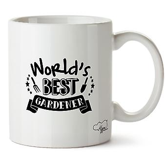 Hippowarehouse мир лучшим садовник садоводство напечатаны Кубка керамическая кружка 10oz