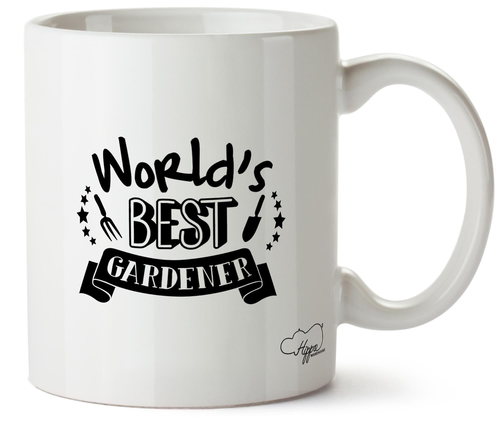 Hippowarehouse World's  Best Gardener Gardening Printed Mug Cup Ceramic 10oz
