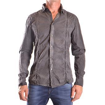 Bikkembergs Ezbc101036 Men's Grey Cotton Shirt