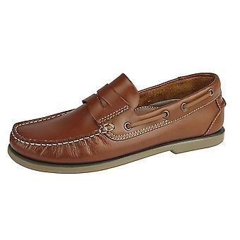 Dek Mens Leather Saddle Casual Shoes