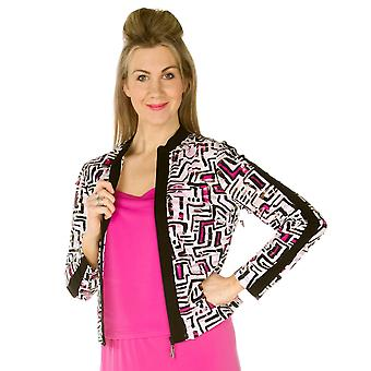 TIA Jacket 76391 7253 White With Black And Pink
