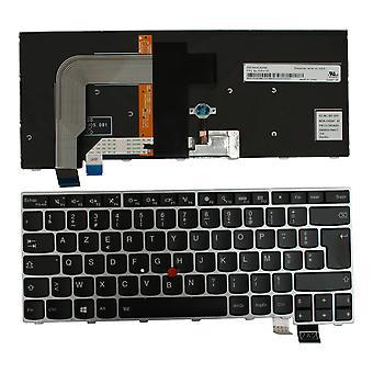 レノボ日本精工 ZA6BT シルバー フレーム バックライト黒 Windows 8 フランスのレイアウトの交換ノート パソコンのキーボード