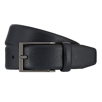 Strellson belts men's belts leather leather belt blue 7941