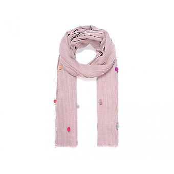 Intrigue Womens/Ladies Scarf With Pompom Detail