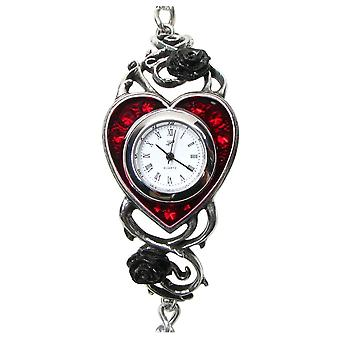 Alquimia gótico cama de sangue rosas pewter Watch