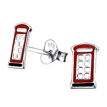 Children's Sterling Silver Telephone Box Stud Earrings