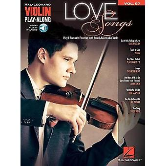 Love Songs - Violin Play-Along Volume 67 - 9781495085710 Book