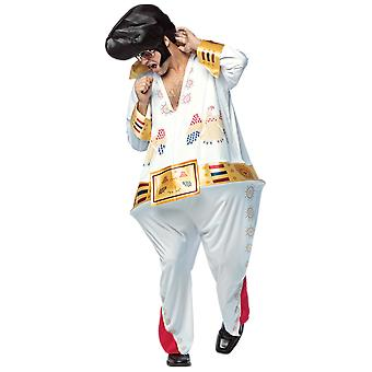 Adult Elvis Presley Hoopster rock & roll King 50s fancy kjole kostume