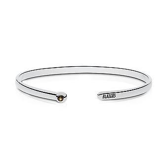 The U of Alabama at Birmingham Quartz Stone Cuff Bracelet In Sterling Silver Design by BIXLER