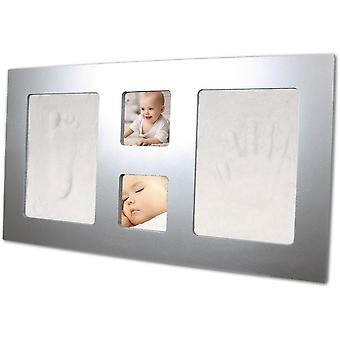 Xplorys Happy Hands Luxury Large Frame Hand And Foot Print Kit Silver