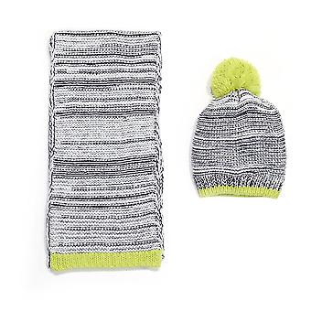 Chatties Marled Knit Beanie Et Oblong Scarf Set