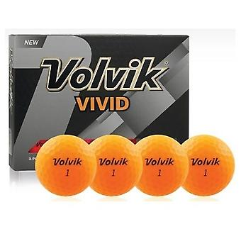 Volvik Vivid Golf Balls Orange 1 Dozen
