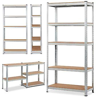 Heavy Duty 5-tier metalen rekken unit 180 x 90 x 40 cm
