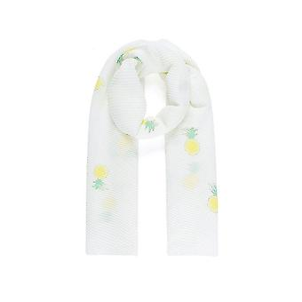 Intrigue Womens/Ladies Sparkly Pineapple Pleated Scarf