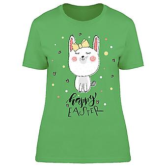 Doodle Rabbit Happy Easter Tee Women's -Image by Shutterstock