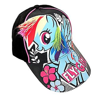 Baseball Cap - My Little Pony - Fly Girl Black Kids/Girls New 383609
