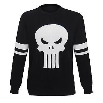 Punisher symbool Jacquard mannen ' s trui